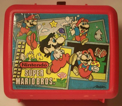 A vintage plastic Aladdin Super Mario Bros. Lunch box - this is exactly what I used for lunch in early elementary school.