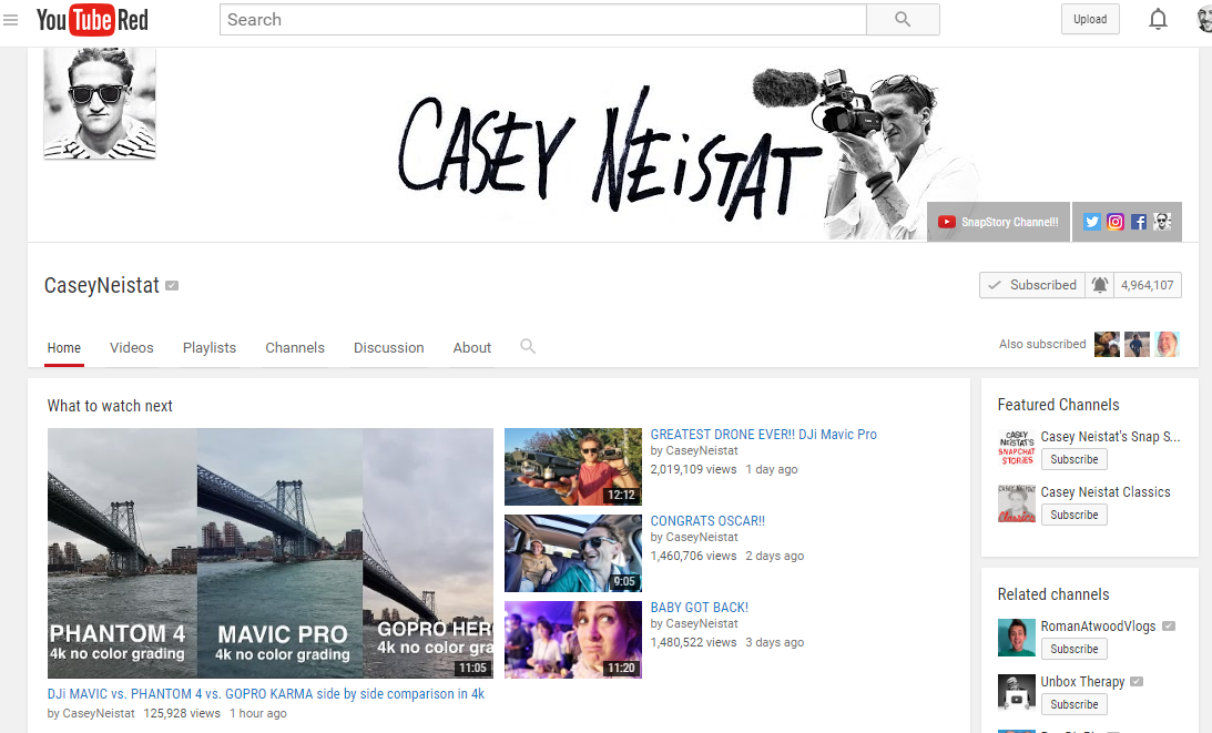 Casey Neistat and Success by Doing (Plus Stochasticity)